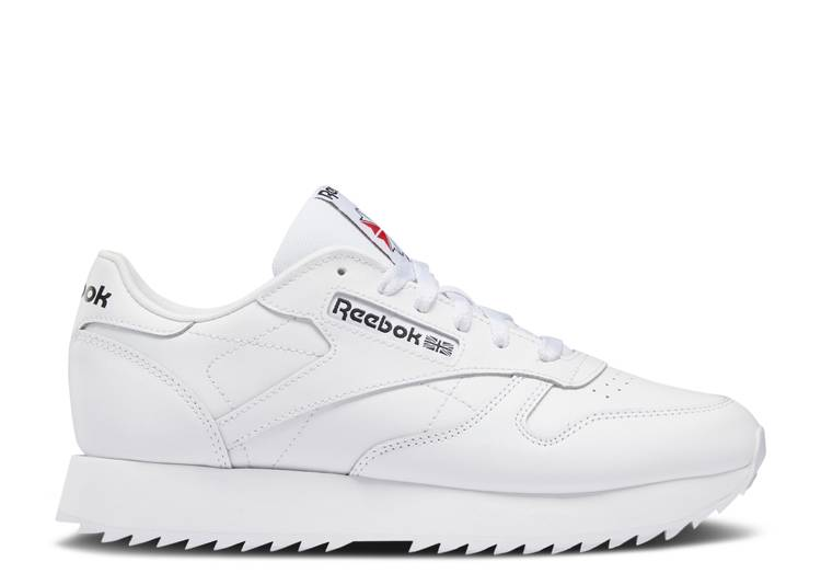 Wmns Classic Leather Ripple 'Triple White'