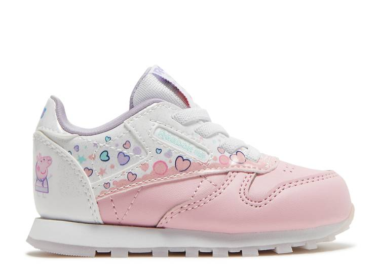 Peppa Pig x Classic Leather Toddler 'Bubbles and Hearts'