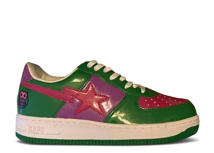 Bapesta Low 'X Pack - Baby Milo Green Pink'