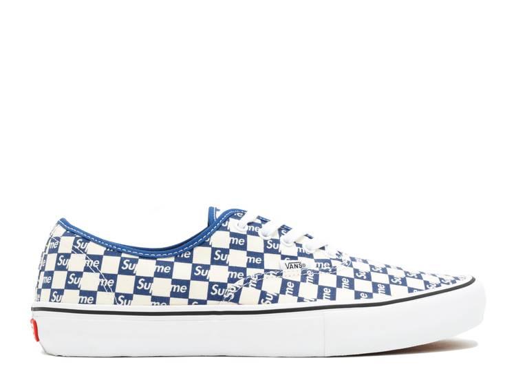 "Supreme x Authentic Pro 'Checkered Blue' ""Checkered Blue"""