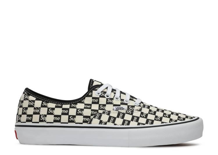 Supreme x Authentic Pro 'Checkered Black'