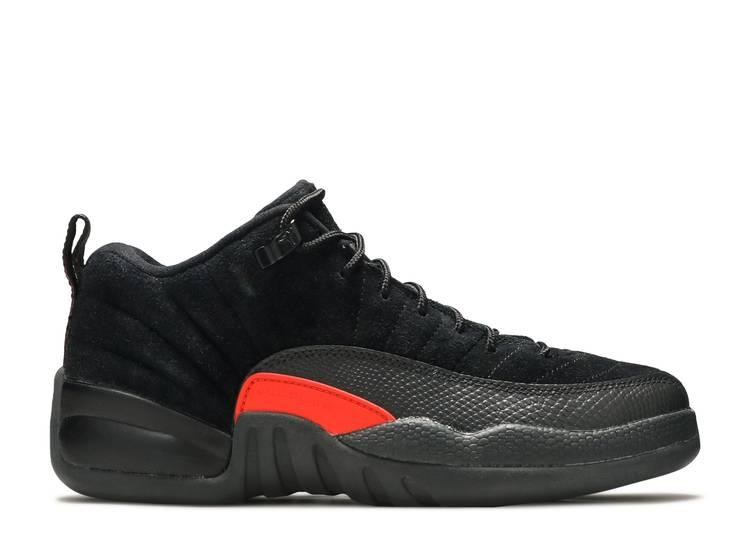 Air Jordan 12 Retro Low BG 'Black Max Orange'