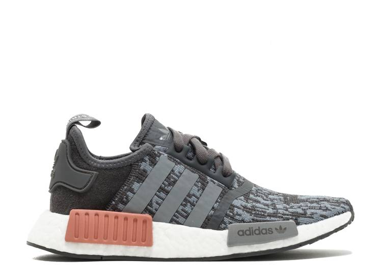 Wmns NMD_R1 'Heather Grey Raw Pink'