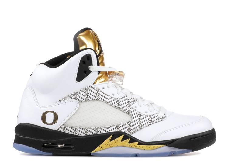 Air Jordan 5 Retro PE 'Oregon Ducks Olympic Gold'