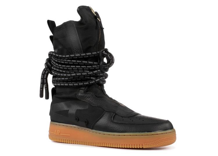 Sf Air Force 1 High Black Gum Nike Aa1128 001 Black Gum Medium Brown Flight Club