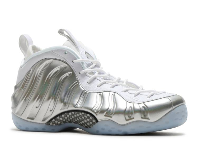Nike Air Foamposite One Stealth All White Comparison ...