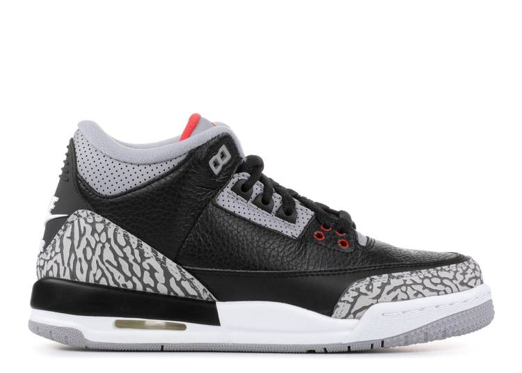 "air jordan 3 retro og bg (gs) ""black cement"""