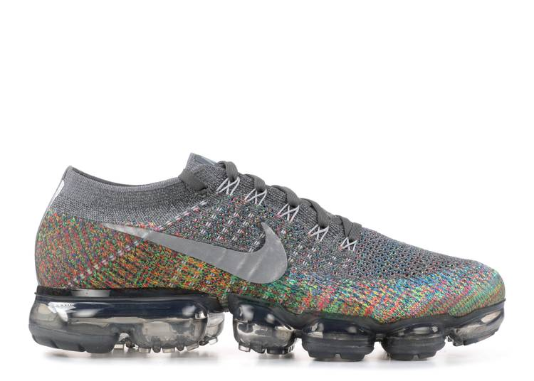 Alerta Vagabundo Pigmento  Nike Air Vapormax Flyknit 'multicolor' - Nike - 849558 019 - dark  grey/reflect silver-blue orbit | Flight Club
