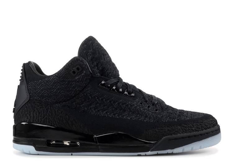 Nike Air Jordan 3 Retro Flyknit Black//Black-Anthracite AQ1005-001