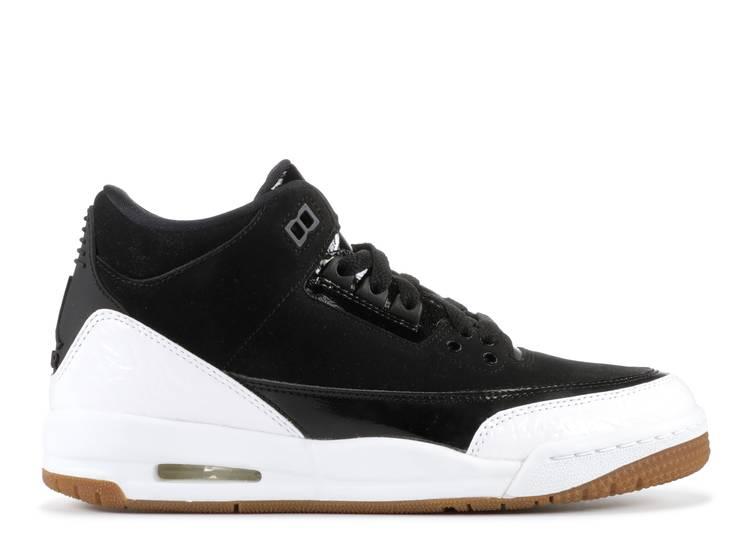 Air Jordan 3 Retro GS 'Black White'