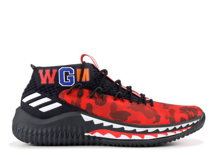 A Bathing Ape x Dame 4 'Red Camo'