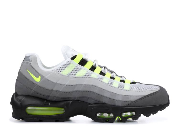 Air Max 95 Og Neon 2015 Nike 554970 071 Black Volt Medium Ash Dark Pewter Flight Club