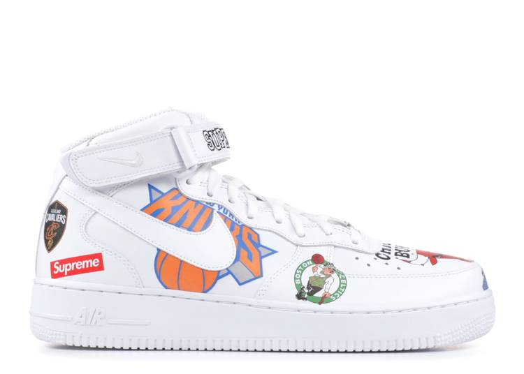 Supreme x NBA x Air Force 1 Mid 07 'White'