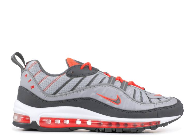 parilla imitar Eh  Air Max 98 'Total Crimson' - Nike - 640744 006 - wolf grey/dark grey-total  crimson | Flight Club