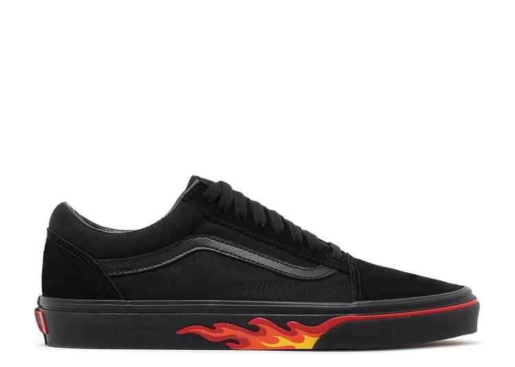Old Skool 'Flame Wall' - Vans - VN0A38G1Q8Q - black/black   Flight ...