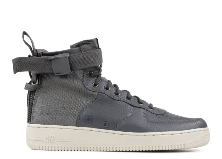 SF Air Force 1 Mid 'Dark Grey' 'Dark Grey'