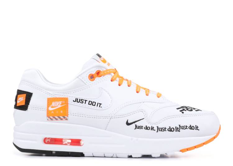 air max 1 just do it white orange