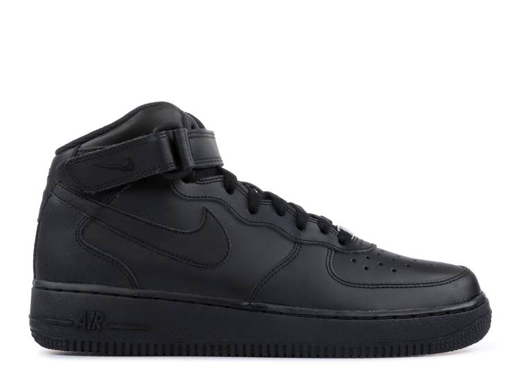 Air Force 1 Mid GS 'Black'