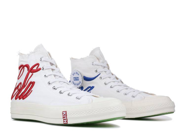 100% Original Coca Cola x Converse 1970s 2.0 KITH men canvas high tops sneakers women red white shoes