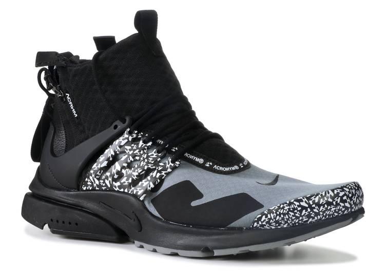 Imitación ignorar Llevando  Acronym X Air Presto Mid 'Cool Grey' - Nike - AH7832 001 - cool grey/black  | Flight Club