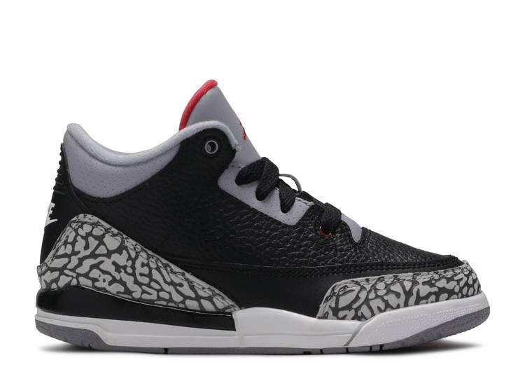 Air Jordan 3 Retro OG PS 'Black Cement' 2018