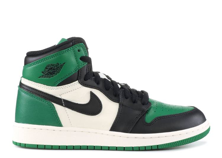 "air jordan 1 retro high og (gs) ""pine green"""