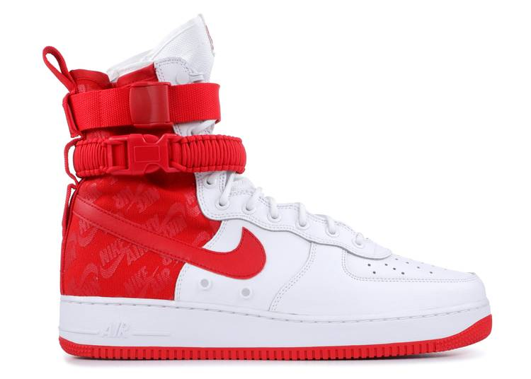 """SF Air Force 1 High """"University Red"""""""