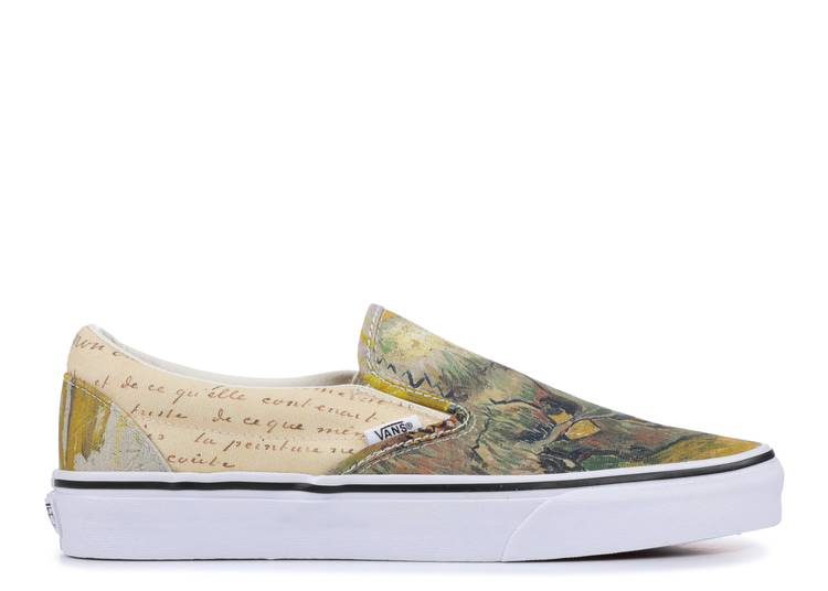 Vincent Van Gogh X Slip On Skull Vans Vn0a38f7u48 Skull True White Flight Club