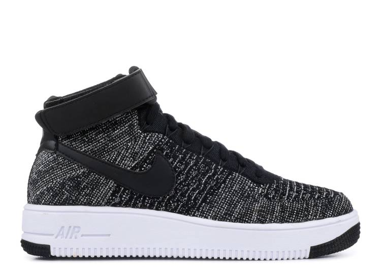Air Force 1 Ultra Flyknit Mid GS 'Black White'