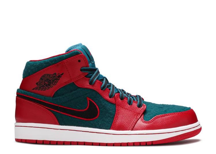 Air Jordan 1 Mid 'Gym Red Dark Sea'
