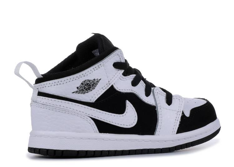 640735 113 Jordan 1 Mid White//Black-White TD