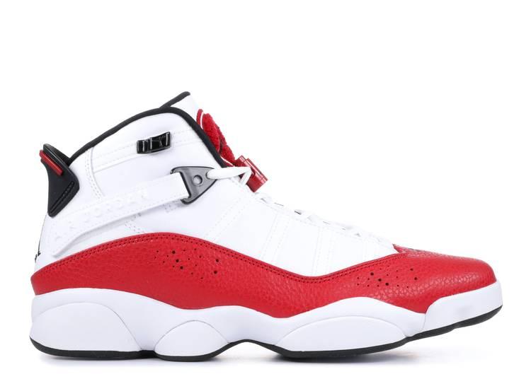 jordan 6 rings 'White University Red'