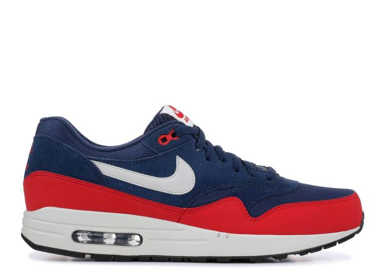 nike air max 1 essential midnight navy university red off 67
