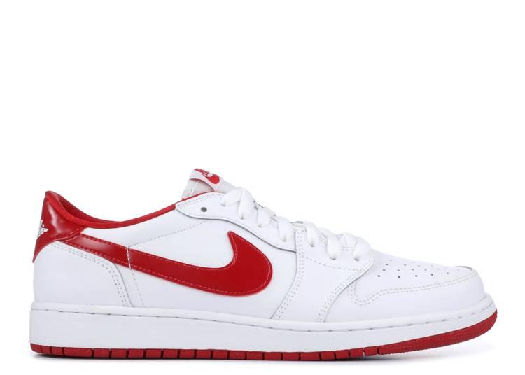 Air Jordan 1 Retro Low BG 'White Varsity Red'