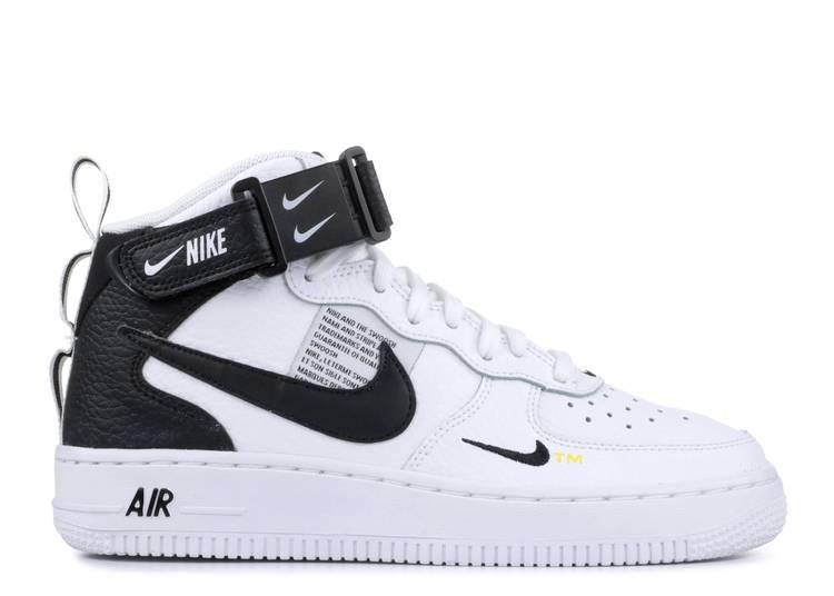 "air force mid lv8 gs ""White Black"""