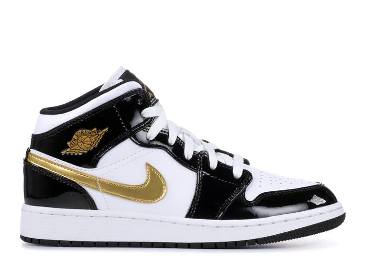 Air Jordan 1 Mid SE GS 'Black Gold' - Air Jordan - BQ6931 007 -  black/metallic gold-white | Flight Club