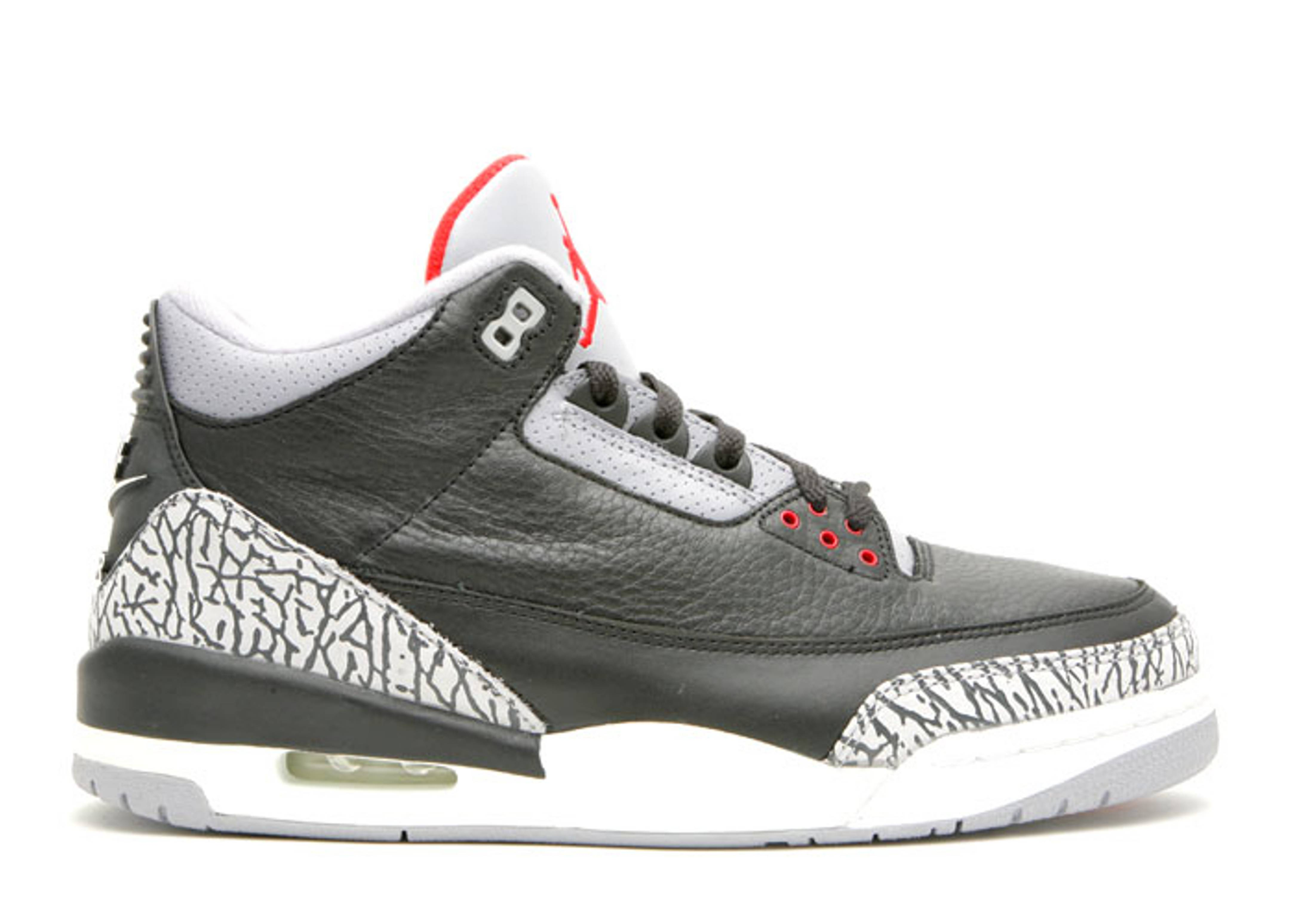 air jordan 3 retro black cement grey. Black Bedroom Furniture Sets. Home Design Ideas