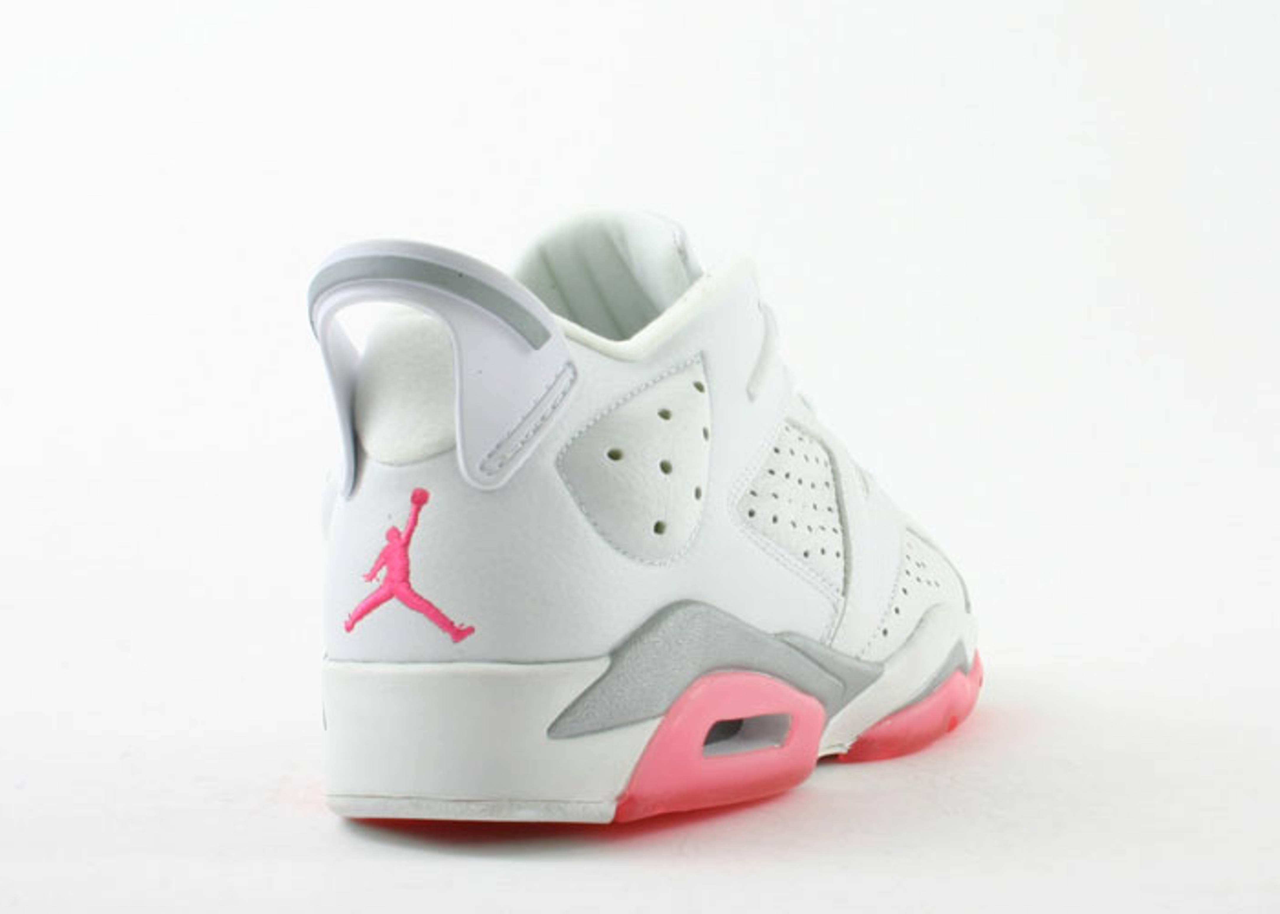 timeless design 86208 4470a ... authentic ws air jordan 6 retro low jordan 304402 161 white coral rose  flight club 6f3f1