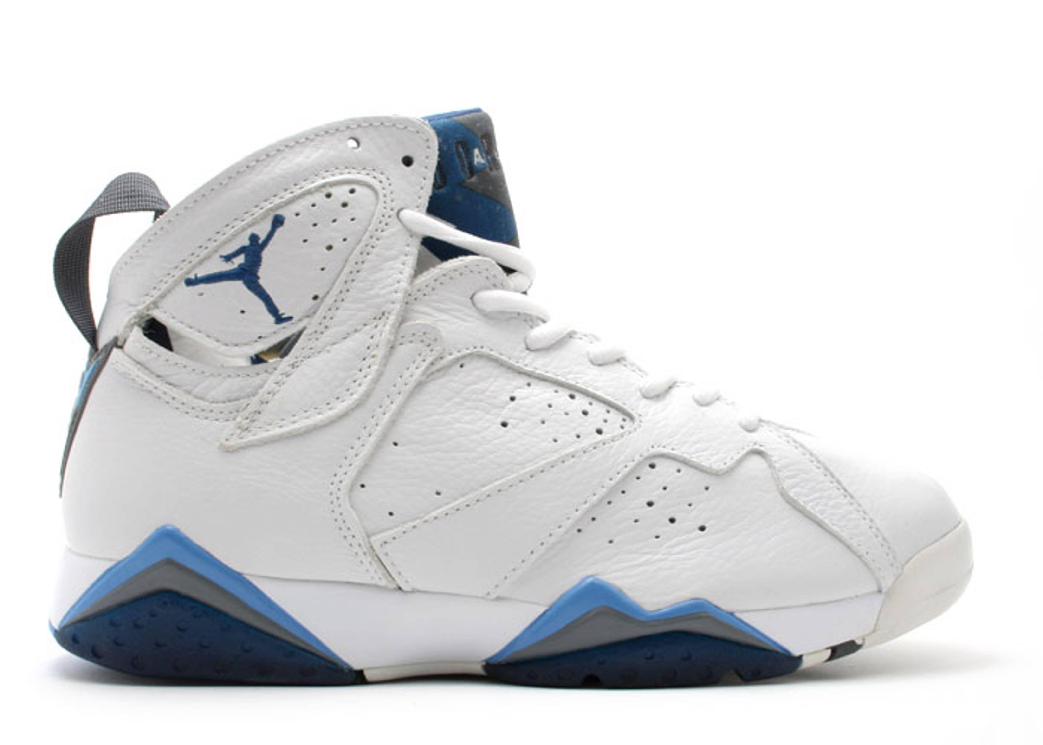 air jordan 7 white and blue