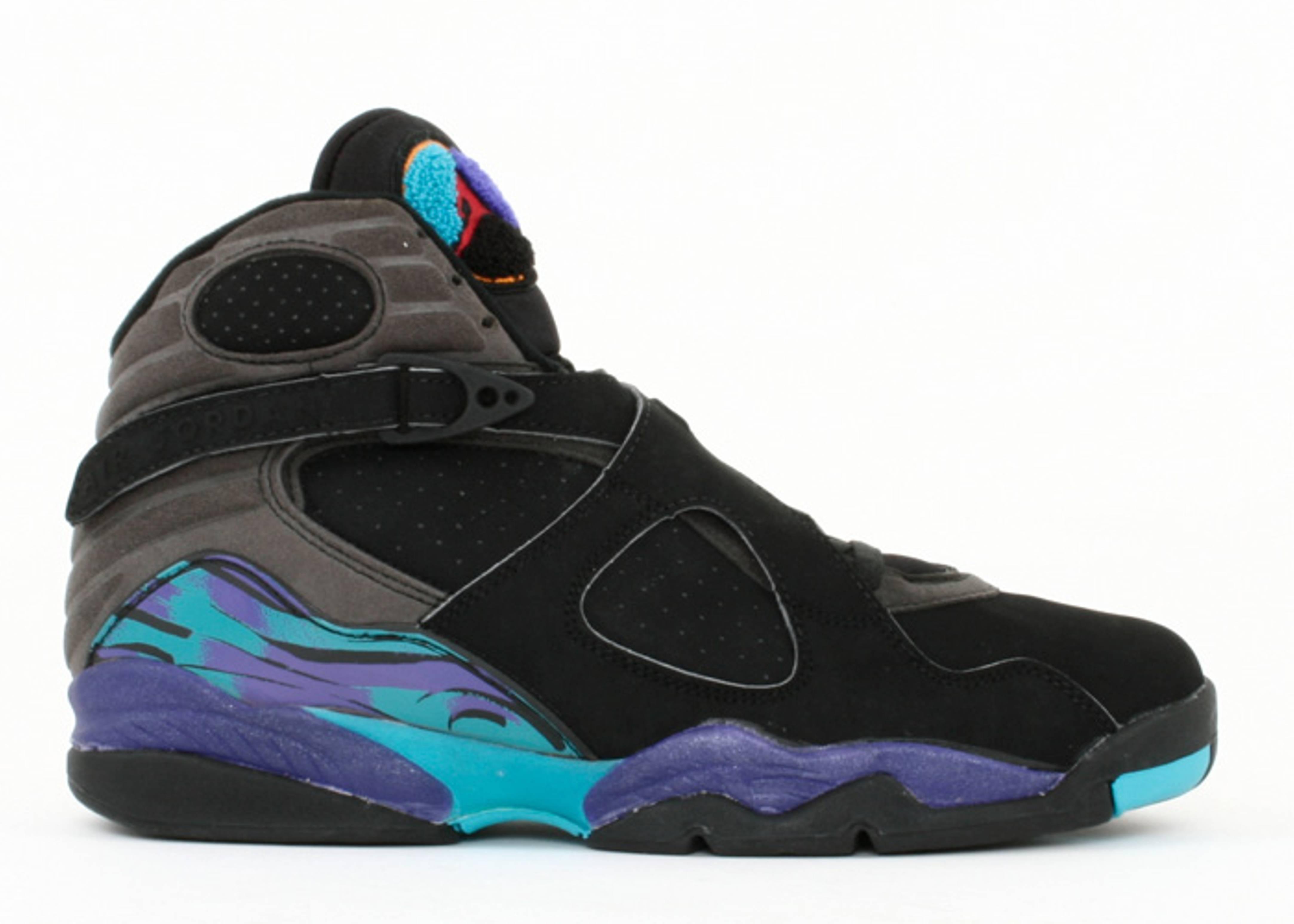 Air Jordan 8 Retro Aqua Black Bright Concord Aqua shoes