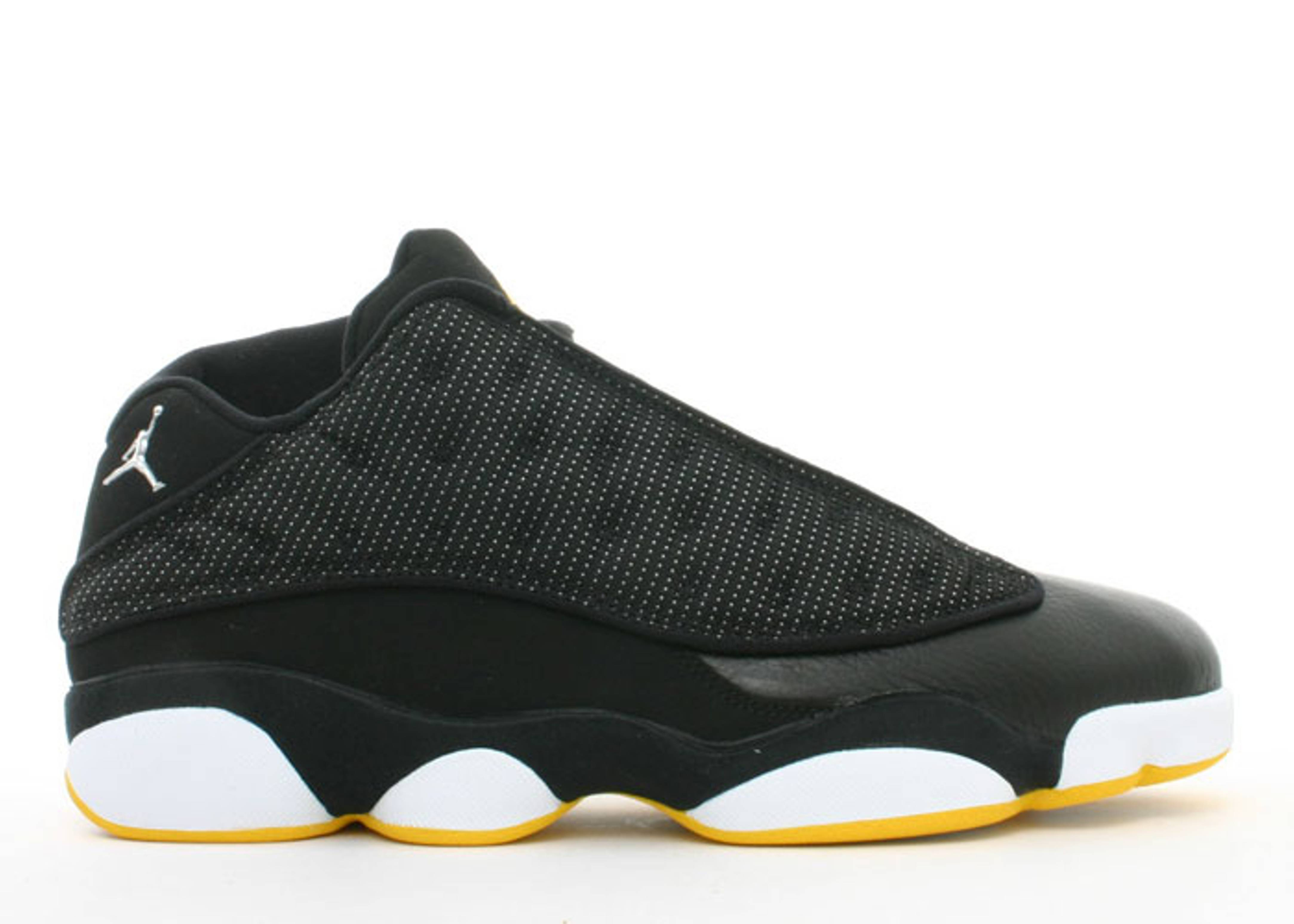 air jordan 13 retro low black silver white varsity maize