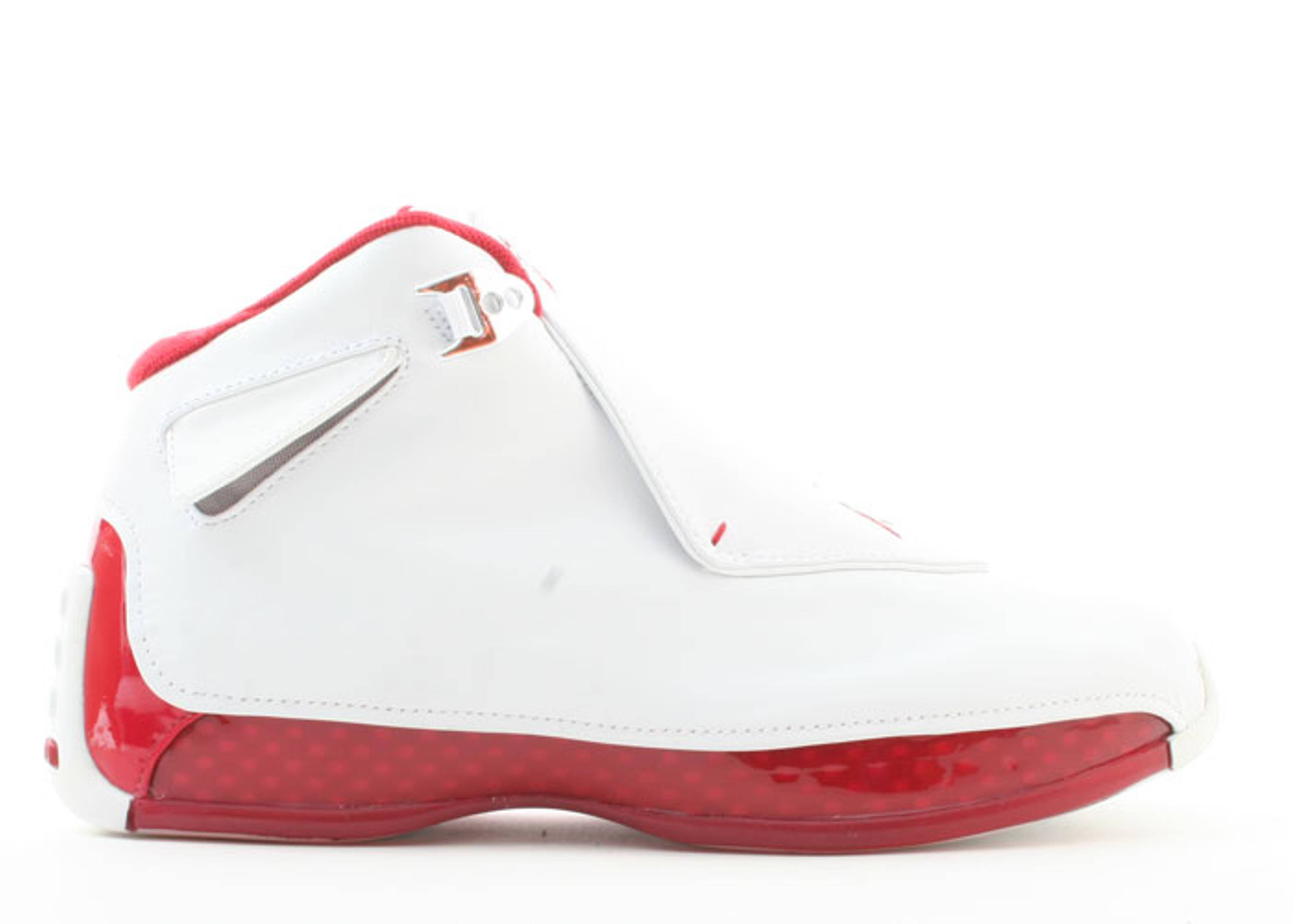 cea904fc199719 Air Jordan 18 - Air Jordan - 305869 161 - white varsity red