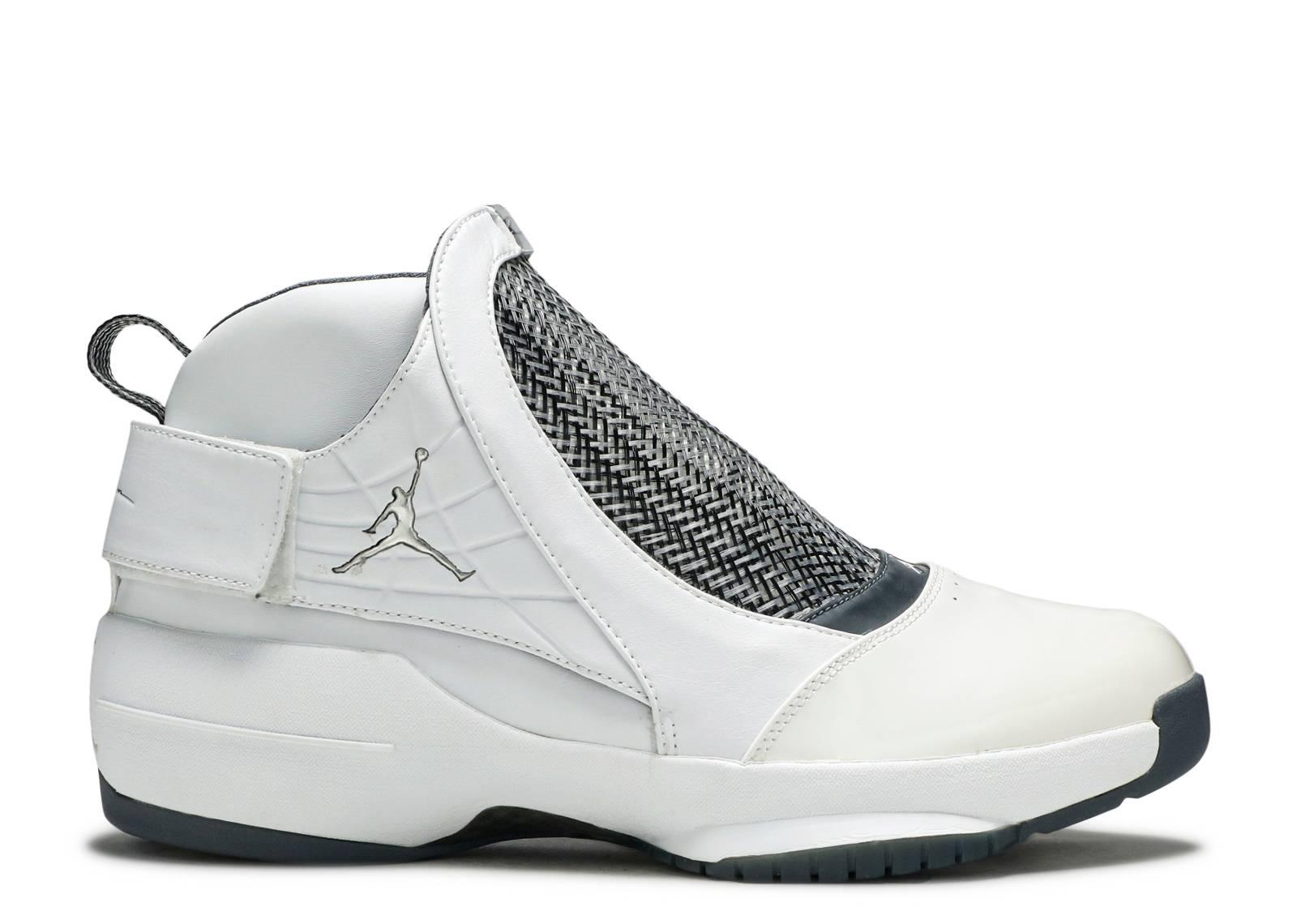 0539de0f1994e3 Air Jordan 19 - Air Jordan - 307546 102 - white chrome-flint grey-black