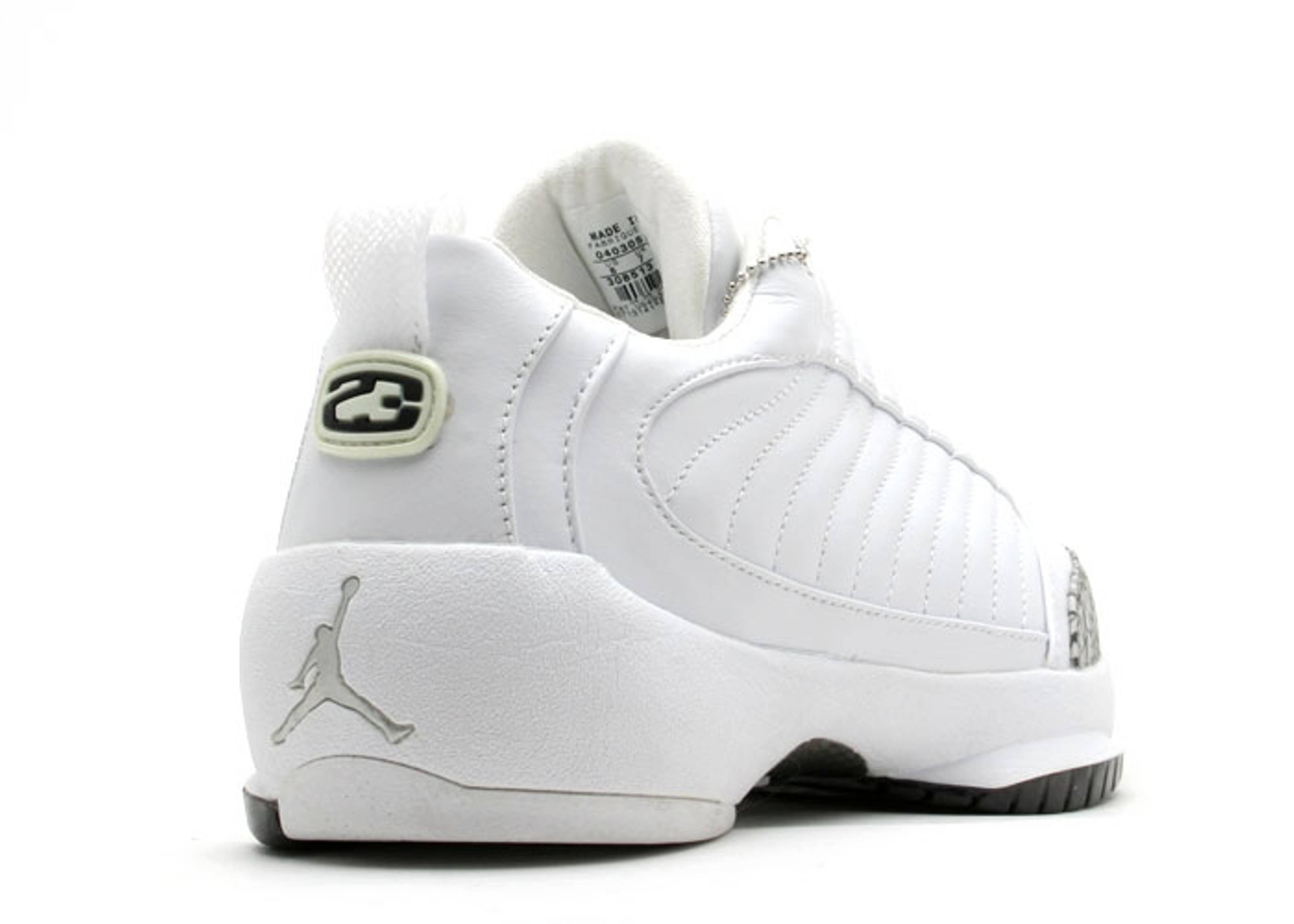 228af3583cdd Air Jordan 19 Low - Air Jordan - 308513 111 - white white-black ...
