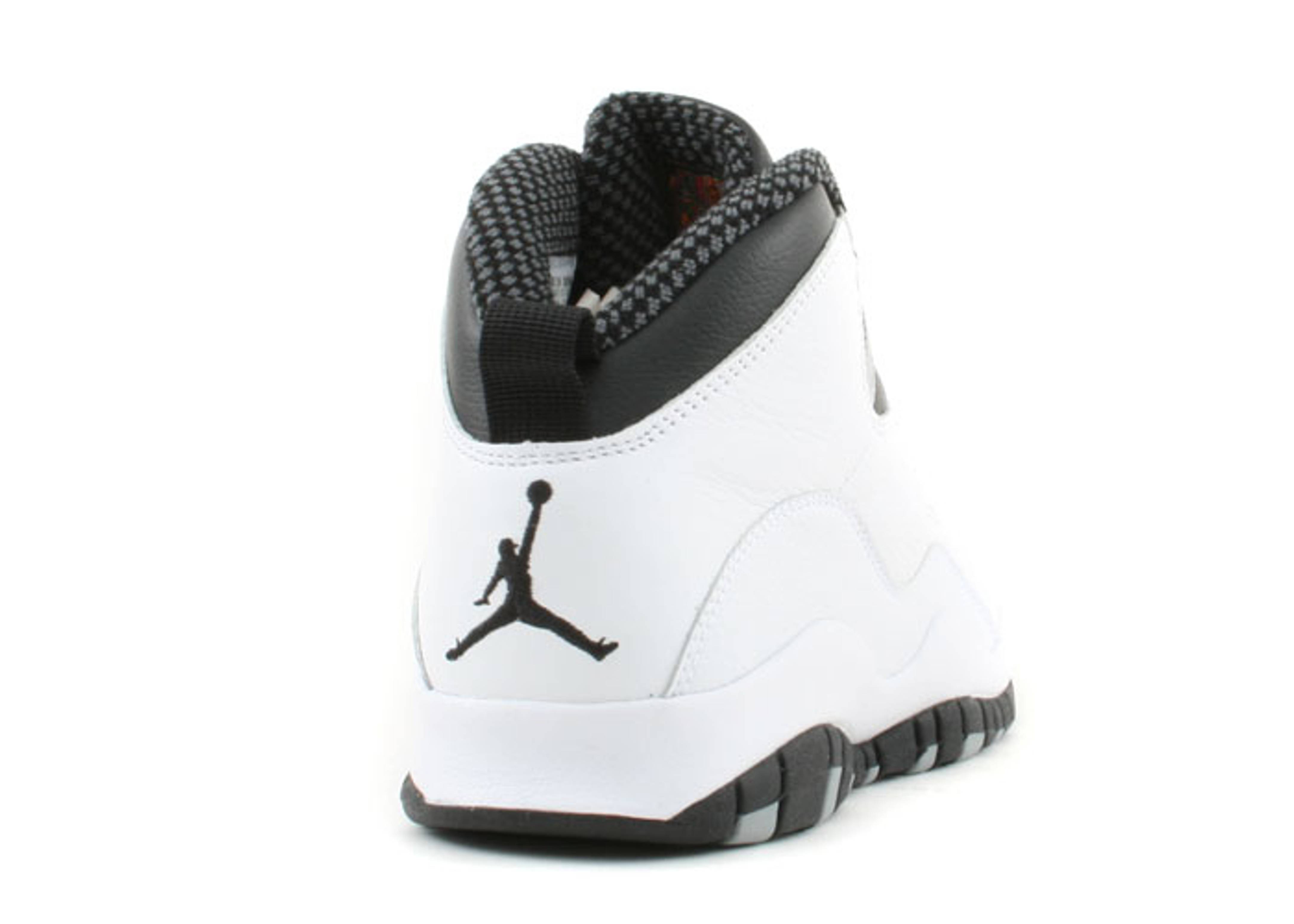 black white jordan 10