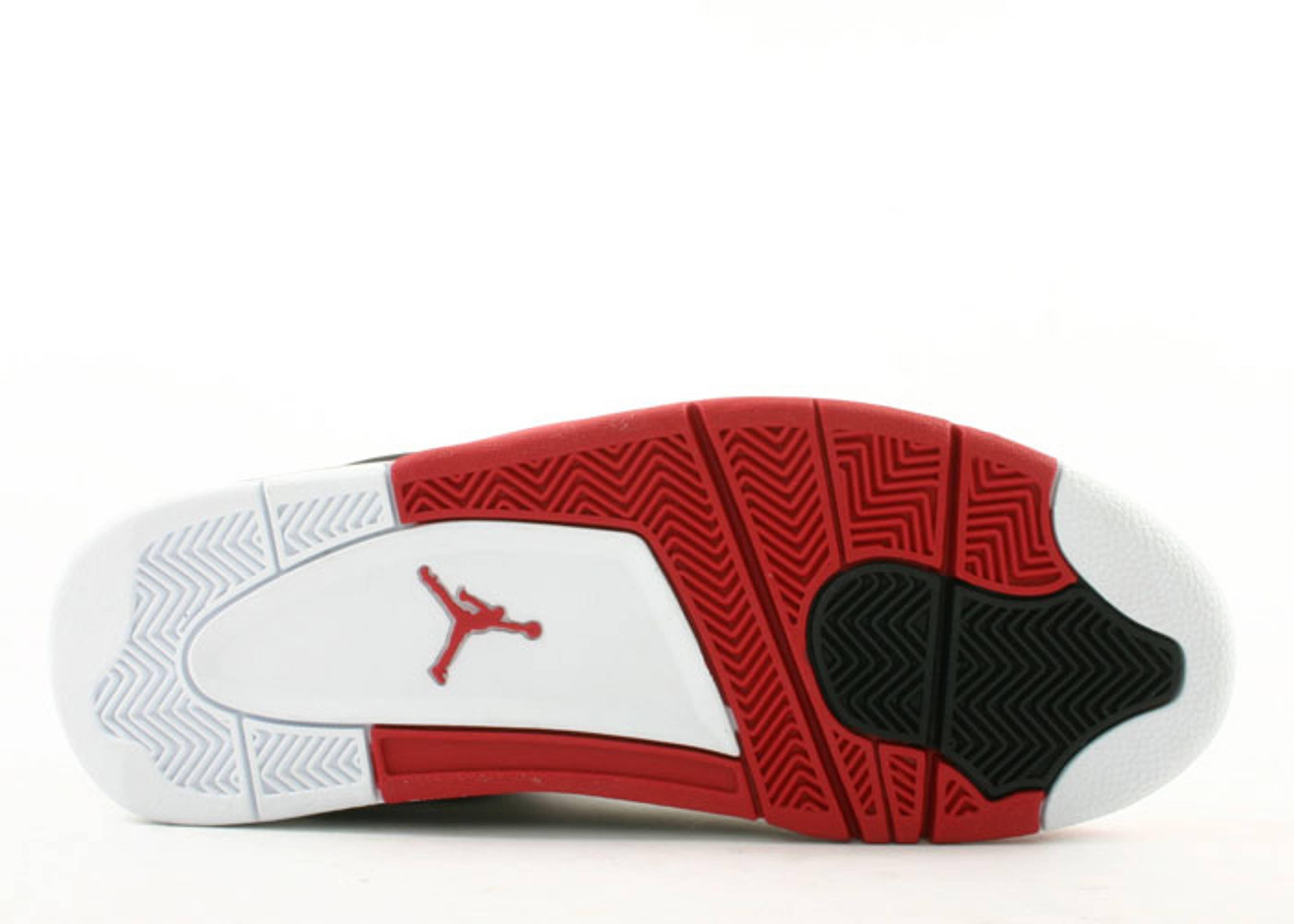 Air Jordan 4 Retro Laser 308497 161 White Varsity Versity R16 Red