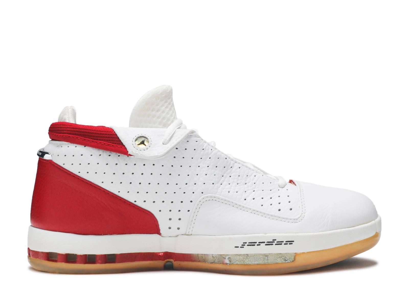ed0453dac835 Air Jordan 16 Low - Air Jordan - 136069 101 - white black-varsity red