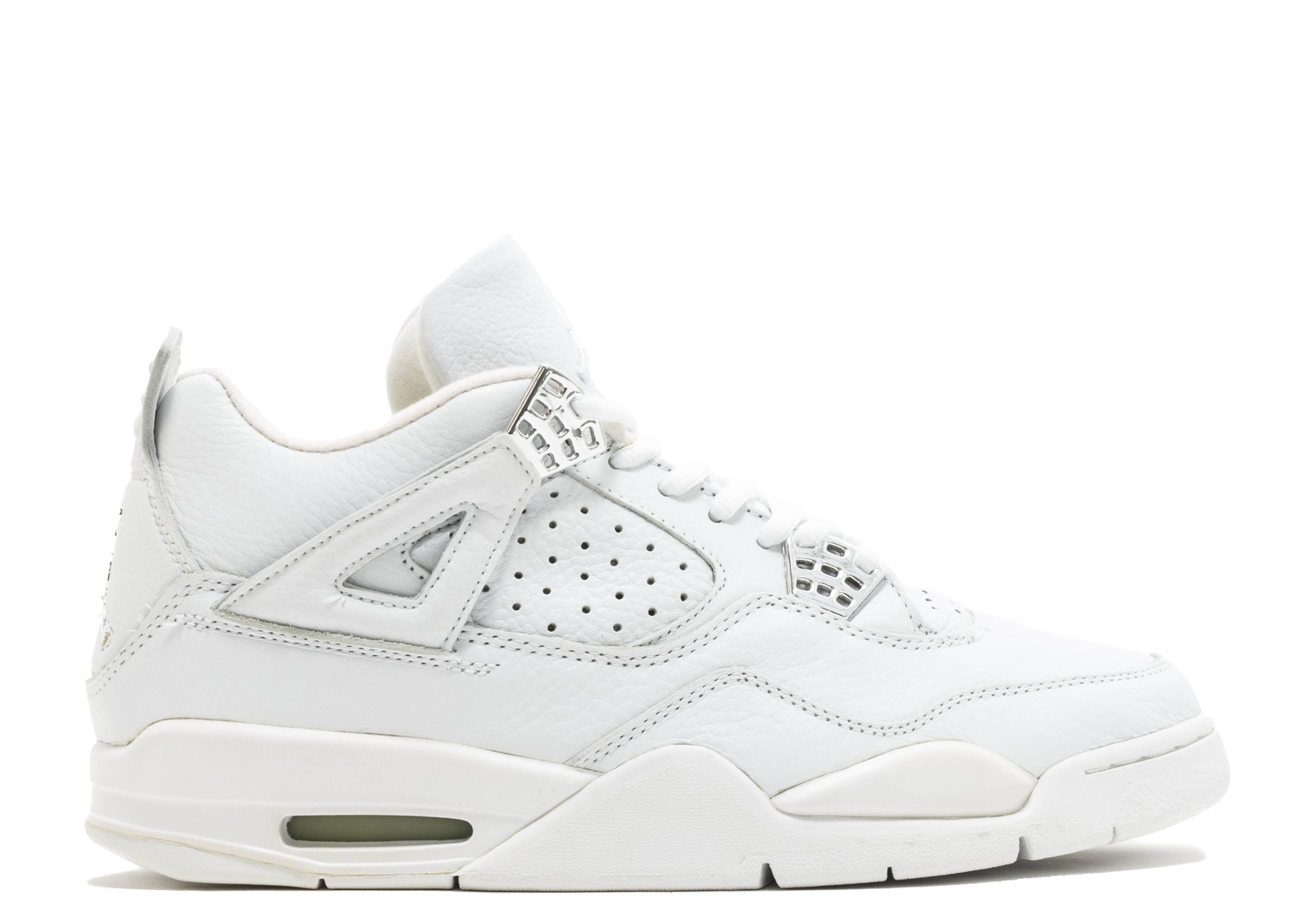 f3da2670726b33 Air Jordan 4 Retro + - Air Jordan - 136030 111 - white white-chrome ...