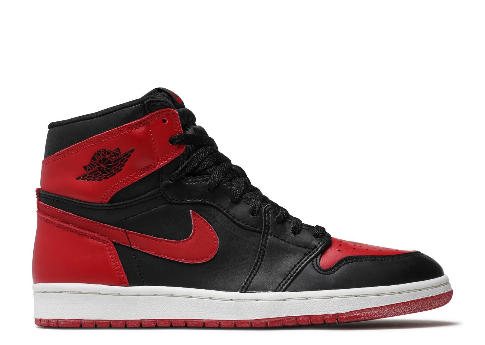 black and red air jordan 1
