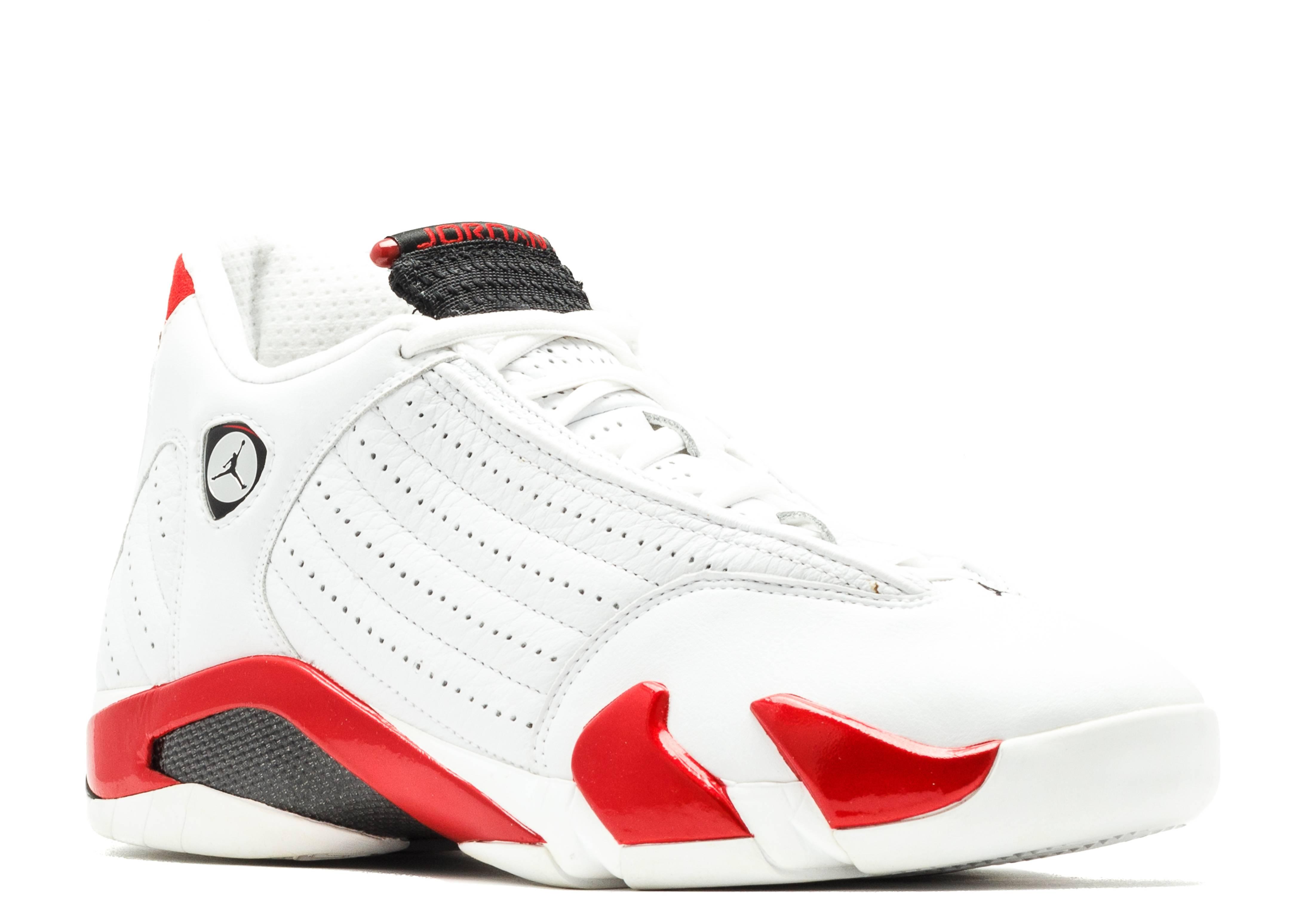air jordan 14 white and red